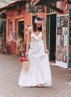 Sabo Skirt White Maxi Dress