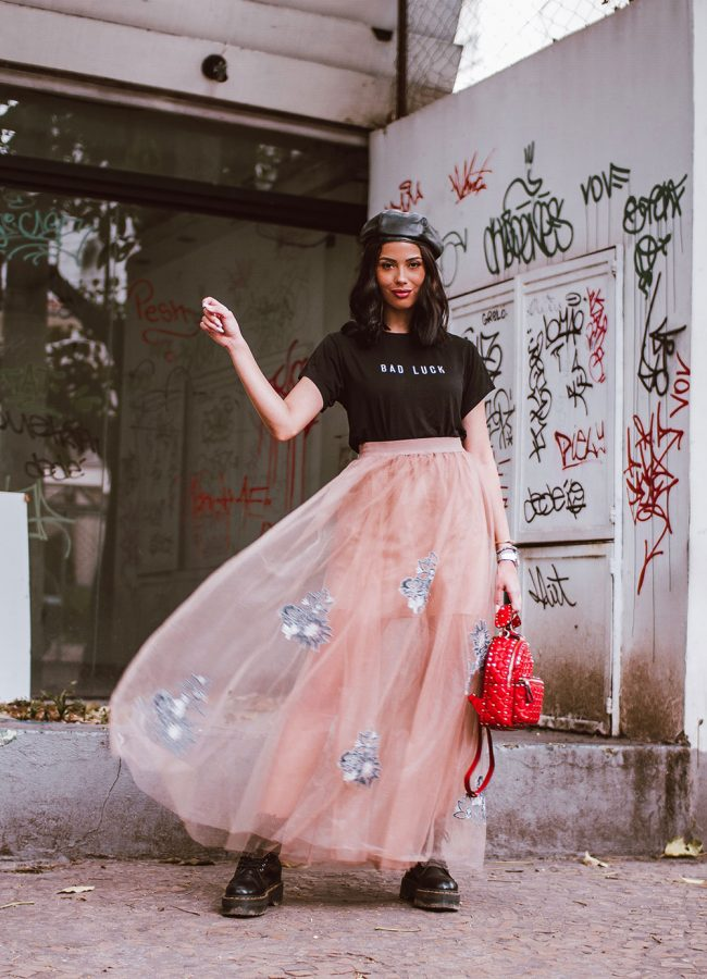Styling a Long Tulle Skirt