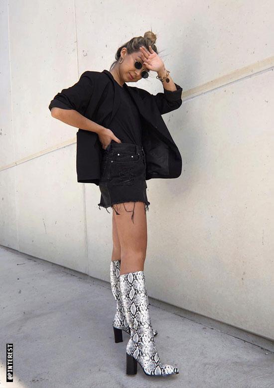 bff439e317b How To Wear Snake Print Boots - Hello Thalita