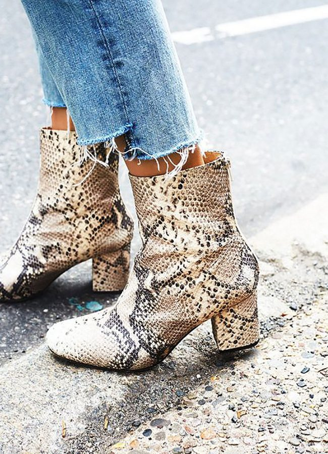 How To Wear Snake Print Boots