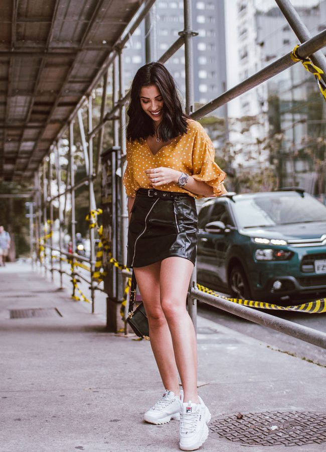 Yellow Polka Dot Top Outfit