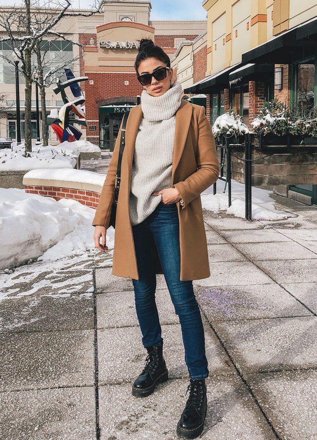 Zara Camel Coat Outfit