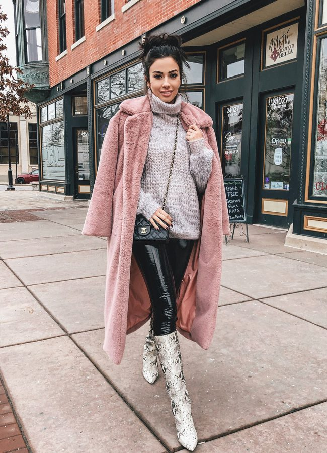 Long Pink Coat Outfit
