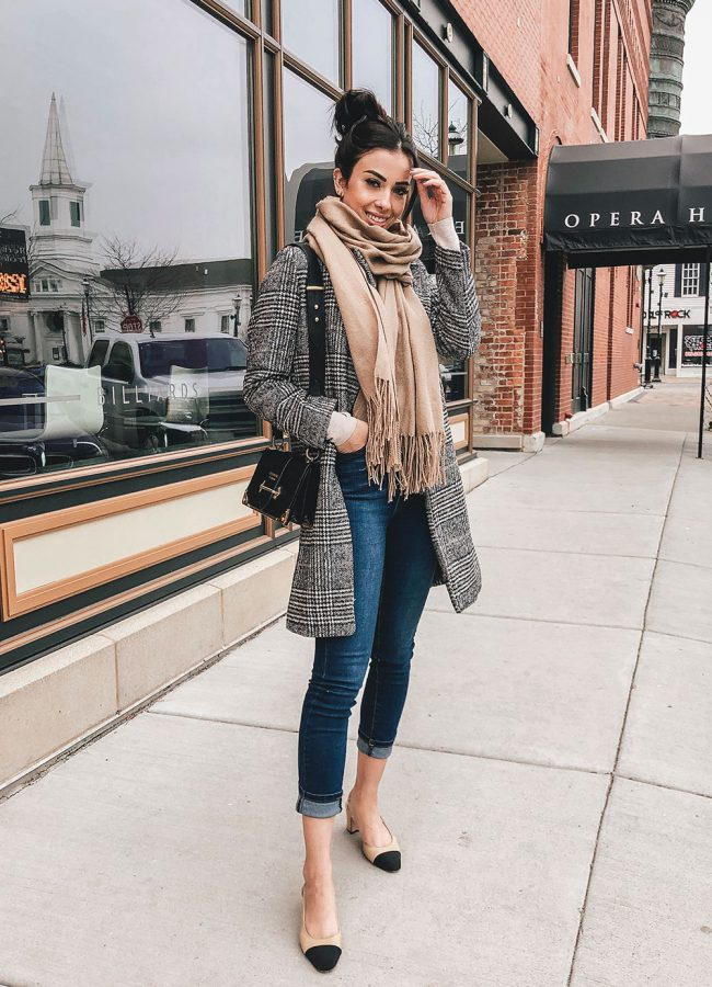 Zara Plaid Coat Outfit