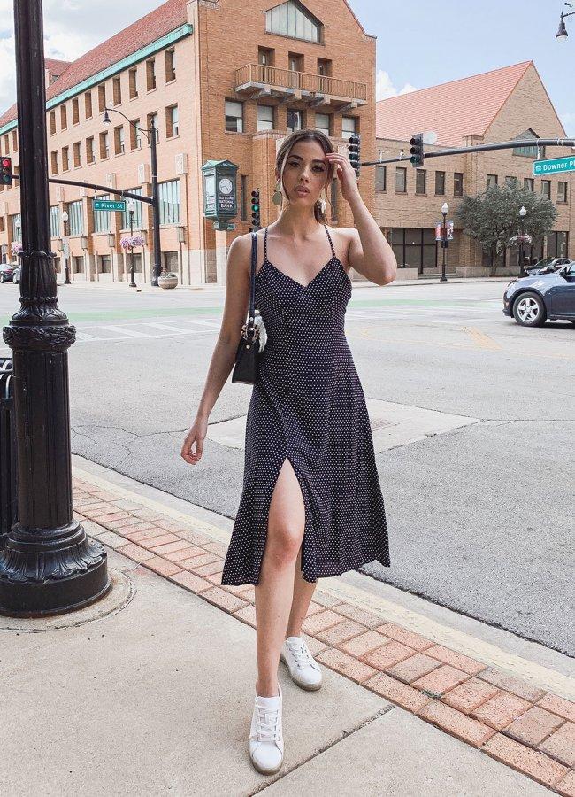 Summer Polka Dot Dress Outfit
