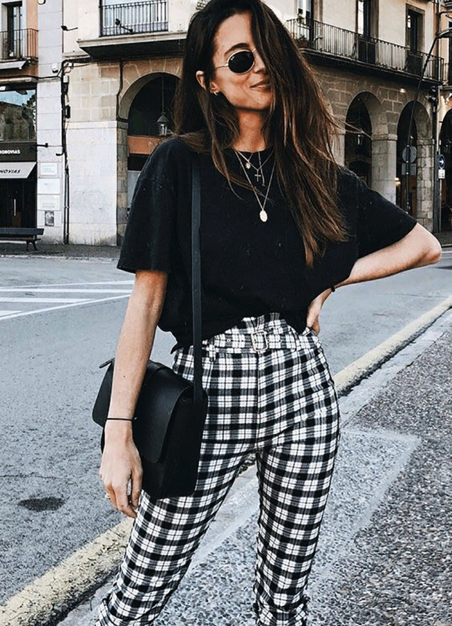 15 Cute Outfits With Checkered Pants