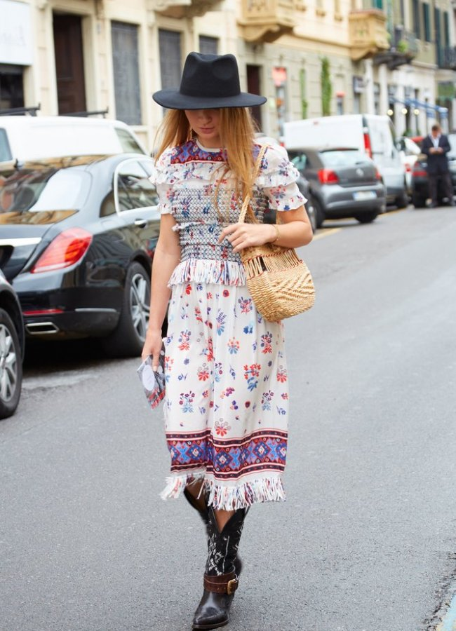 15 Cute Dresses to Wear With Cowgirl Boots